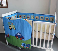 baby boy 3pcs bedroom sets cute cars design blue color