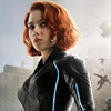 Avengers black widow wig of the same style short body wave hair for cosplay or party