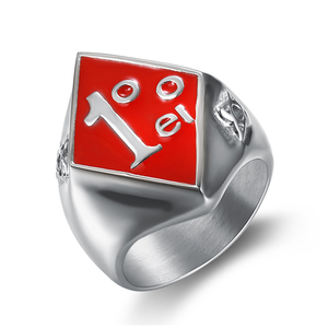 Custom design Newest Boys Mens metal factory ring 316L Stainless Steel Jewelry Silver 1%ER Biker Ring club party band