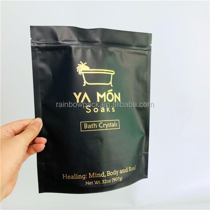 Matte black mylar folie ziplock pouch voor Wei-eiwit Verpakking, Vitamine Supplementen