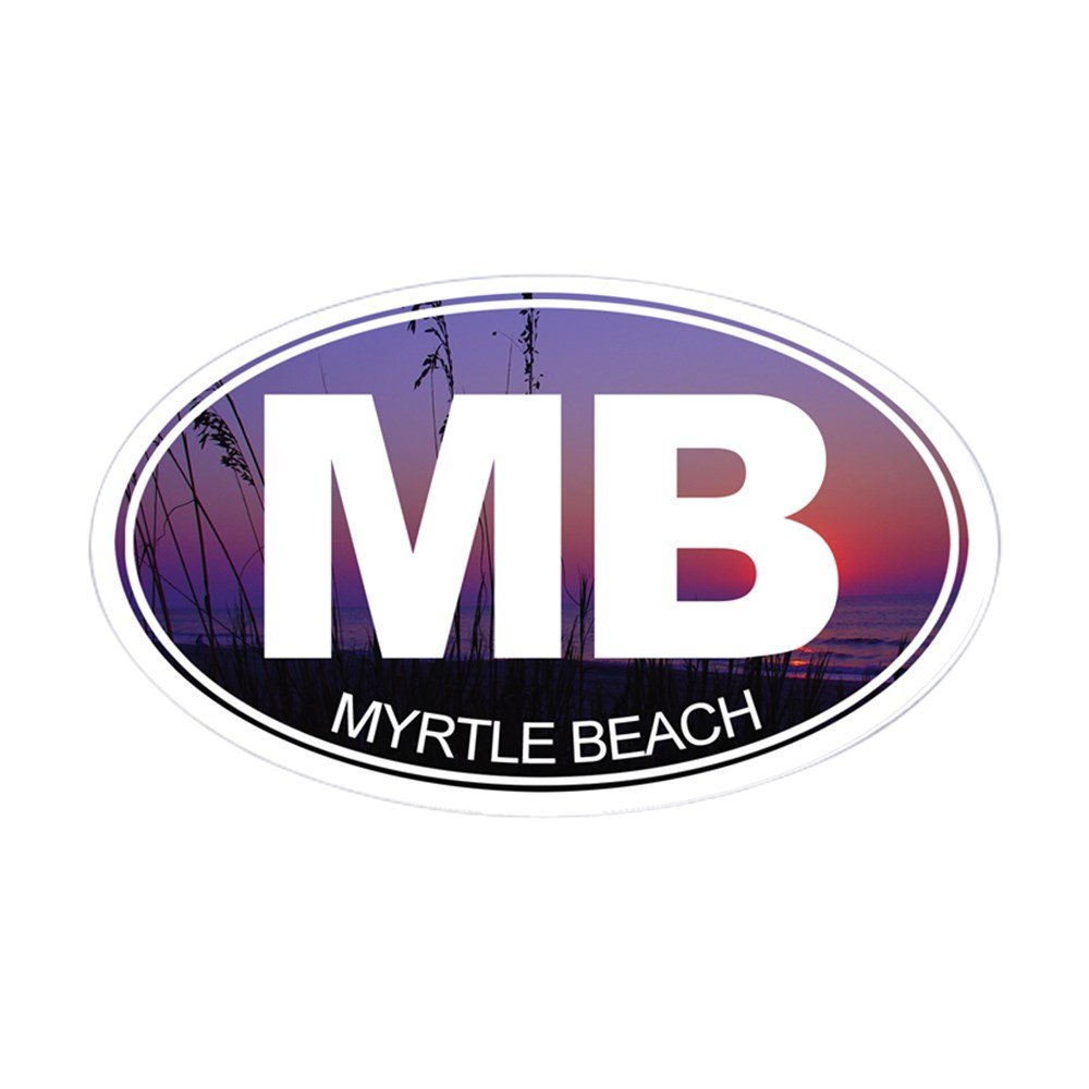 Get quotations · cafepress mb myrtle beach sticker oval oval bumper sticker