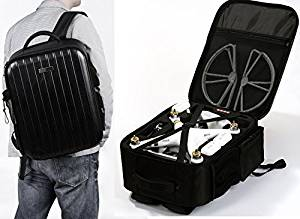 SummitLink Phantom Backpack Bag, Classic Hard Plastic Top, Backpack Bag Extra Light Case for DJI Phantom 3 Advanced and Professional Quadcopter Drones, DJI Phantom 1, DJI Phantom 2 Vision, DJI Phantom 2 Vision+, DJI Phantom 2 + Gimbal or DJI Phantom FC40, Fits Extra Accessories GoPro Cameras and