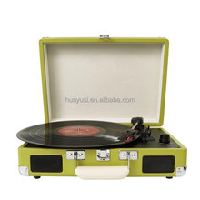 Hot sale portable gramophone record player, suitcase vinyl records with blutooth