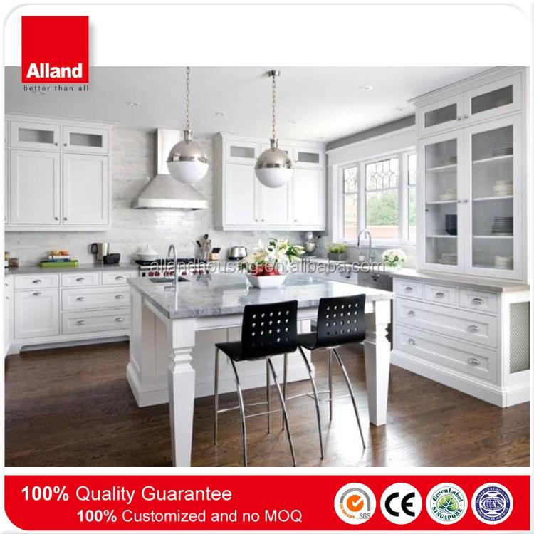 Todo Blanco Cocina Contemporánea Moderna Blanco Cocina Ideas De ...