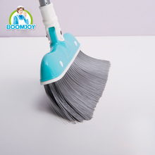 CHINA WHOLESALE PLASTIC HOUSEHOLD PRODUCT ALUMINIUM HANDLE DUSTPAN AND BROOM SET