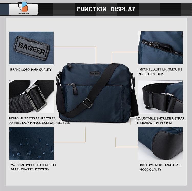 3d12bd8c8785 Black Large Courier Mens Shoulder Messenger Custom Best Designer Crossbody  Bags