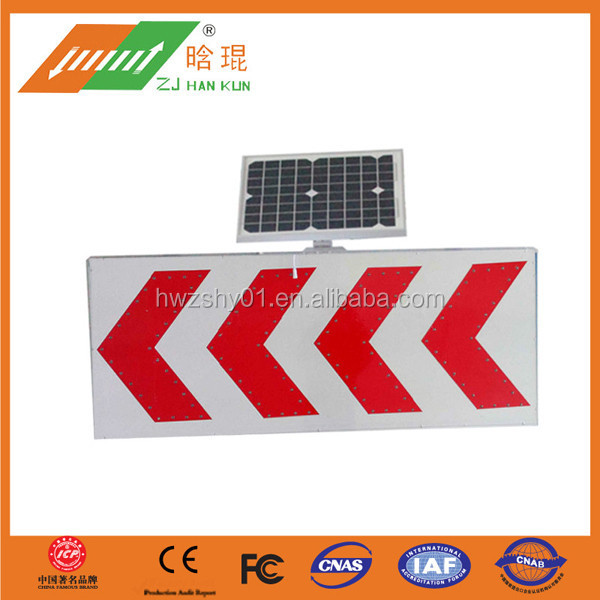 Road Safety Instructions Solar Regulatory Road Sign
