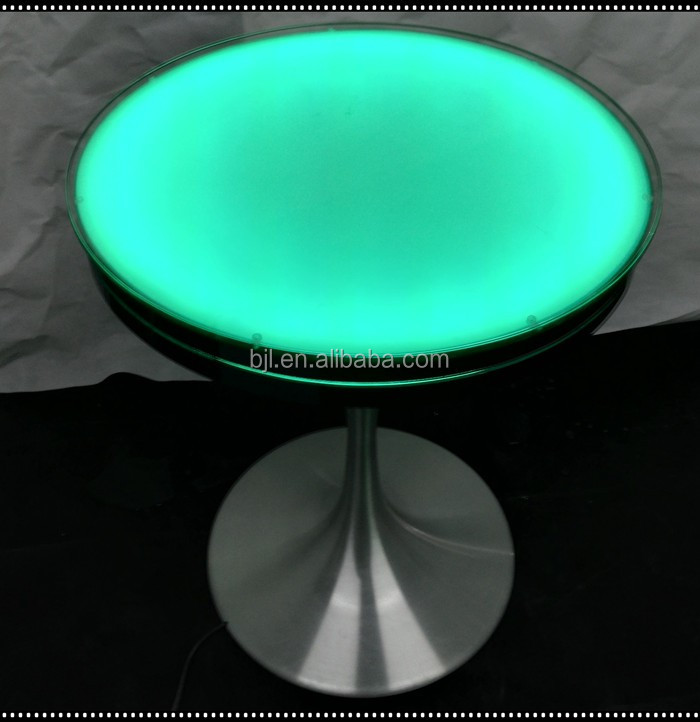 Led Acrylic Light Water Bubble Decor Round Dining Table