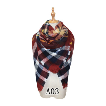 2017 fall pashmina scarf with tassels women ladies scarfs and stoles plaid color pashmina shawl