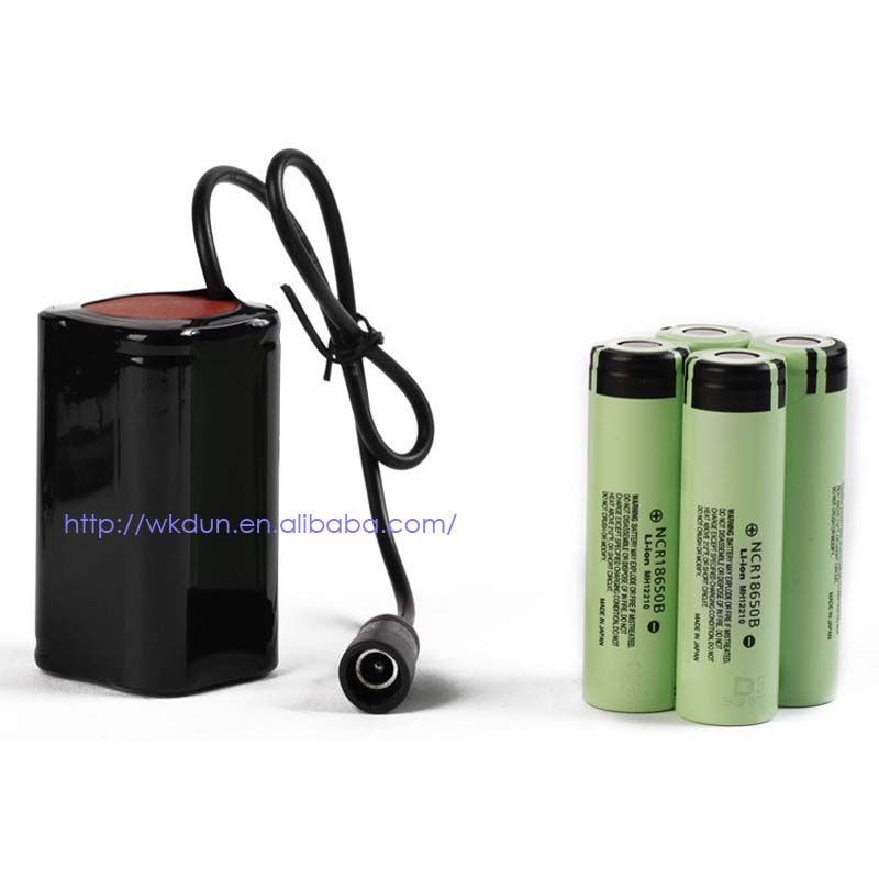 Headlight Bicycle Light Power 8.4V 4x 18650 Battery Pack for Panasonic 18650 battery