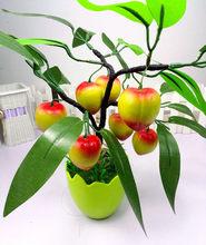 Имитация бонсай декоративные домашние Искусственные цветы искусственный зеленый горшок Декор из растений фрукты Оранжевый Персик лимон д...(Китай)