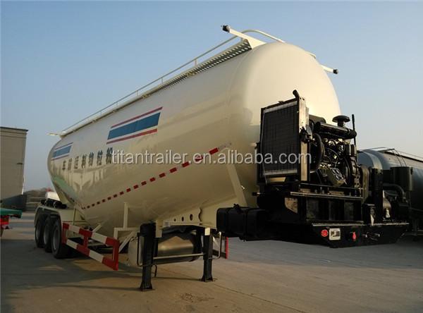 Cement Tank Truck Trailer,Blower Dry Bulk Tanker Trailer For Sale ...
