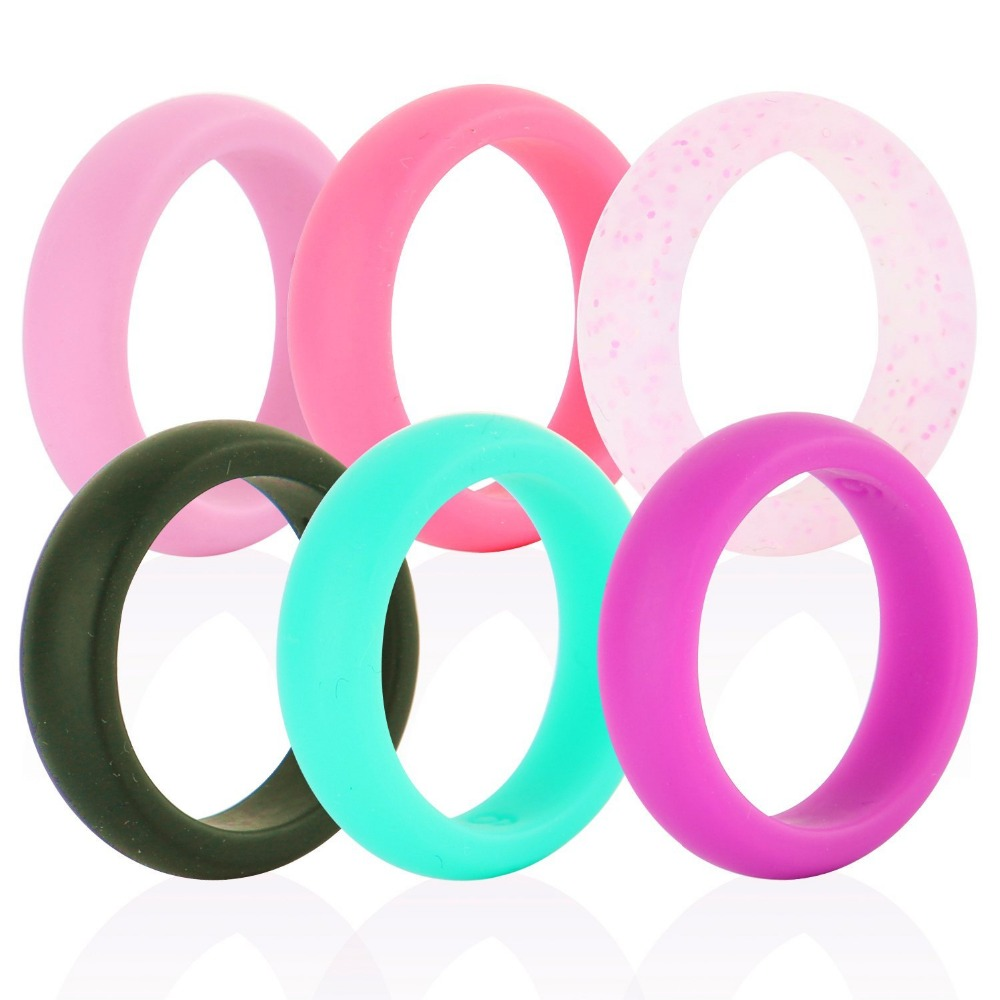 Custom made for women's silicone wedding finger o- ring