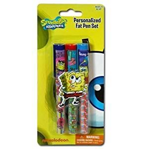 Licensed Spongebob 3pk Capped Pen on Gift Card Set