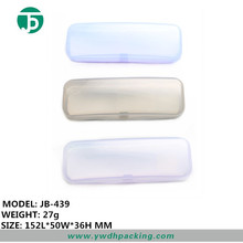 Clear plastic glasses case for kids with different color choice wholesale folding glasses case