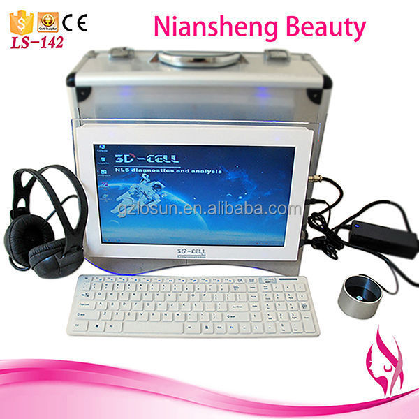 2014 Portable touch screen 3d nls quantum analyzer machine, full body health analysis device