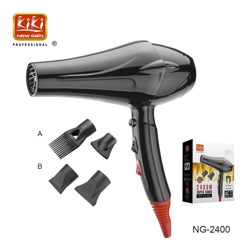 2400W AC motor hair dryer professional. Variable speed Professional hair dryer