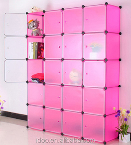 20 cubes pp material magic free standing chinese wedding mobile cabinet baby cabinet (FH-AL0069-20)