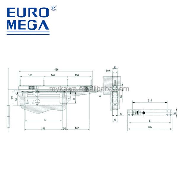 Euro Mega Stainless Steel Concealed Sliding Hidden Square