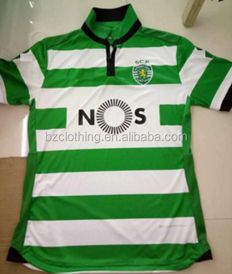 2016-2017 Sporting Lisbon Home Green/White Best Thailand Quality Soccer Jerseys