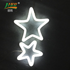 new design shopping mall christmas decorative neon led star lights