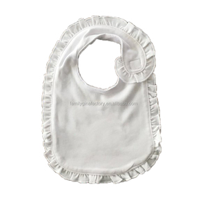 Wholesale Monogrammed Ruffle Cotton Solid Baby Bibs