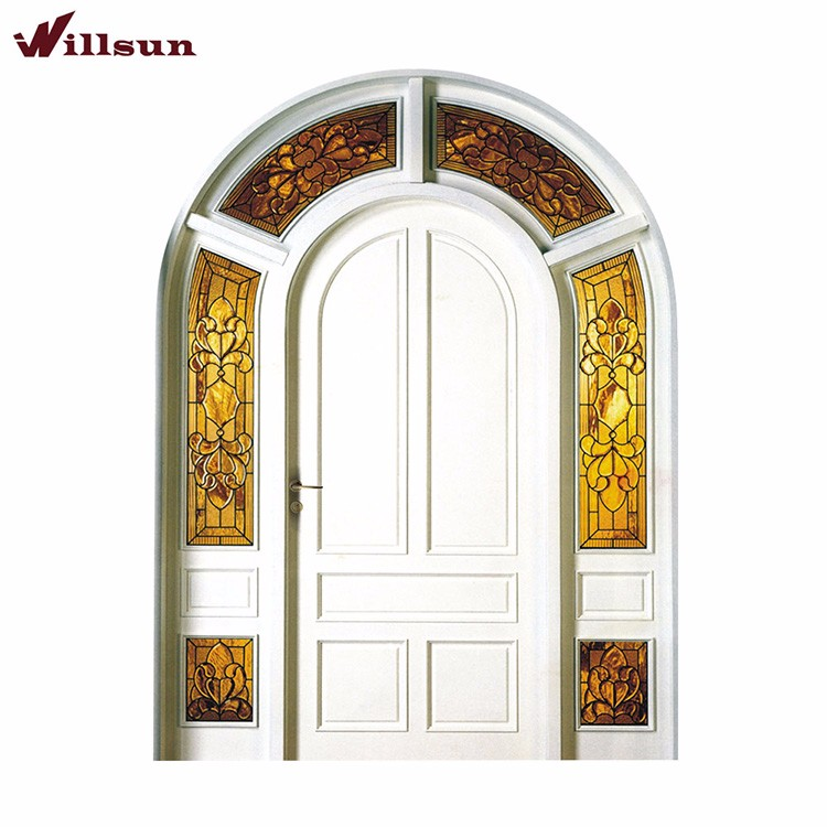 French Villa Garden Style House Main Front Arched Doors