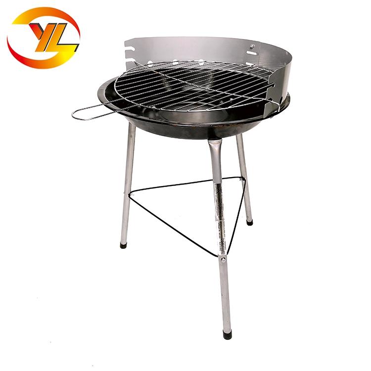 Usine directe vente hauteur réglable balcon 14 ''Simple Barbecue Au Charbon De Bois