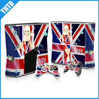 vinyl decal skin sticker for xbox 360 slim console controller factory derect sell