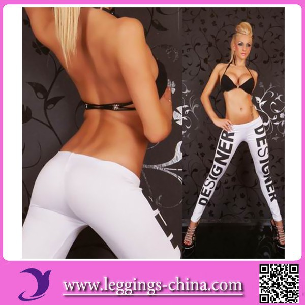 2015(CF1178)Letter Printed New Mix Clothing Compression Transparent Leggings