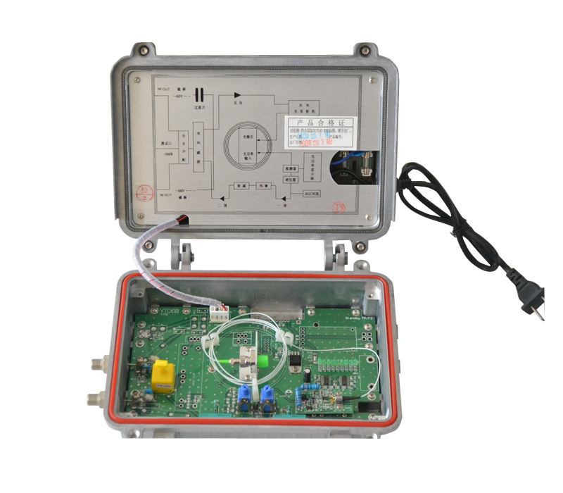 1310 nm AGC optic direct module CATV optical transmitter with dual power amplifier For Ftth CATV solutions