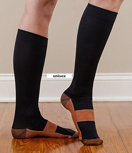 1203a2984 Black Compression Socks Reduce swelling in Tired Legs UNISEX size L XL as  seen