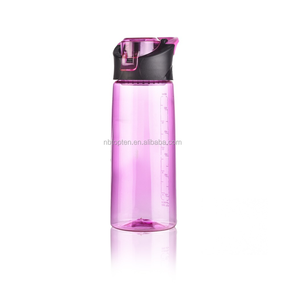 Facturt supply 500ml pc filp top water tea infusion plastic bottle cebu with handle