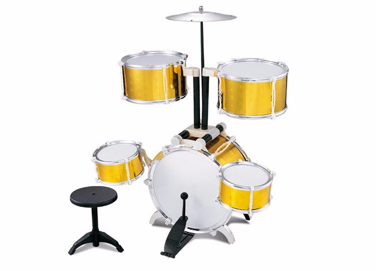 Electronic plastic kids toy drum set for children