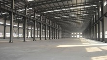 Cheap Chinese two story steel structure warehouse with EPS sandwich panels