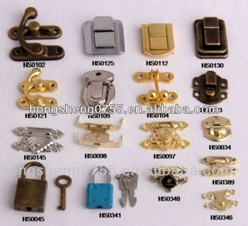 Different Type Decorative Metal Lock For Jewelry Box