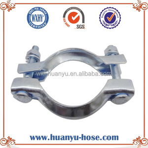F typed Groove type muffler clamps