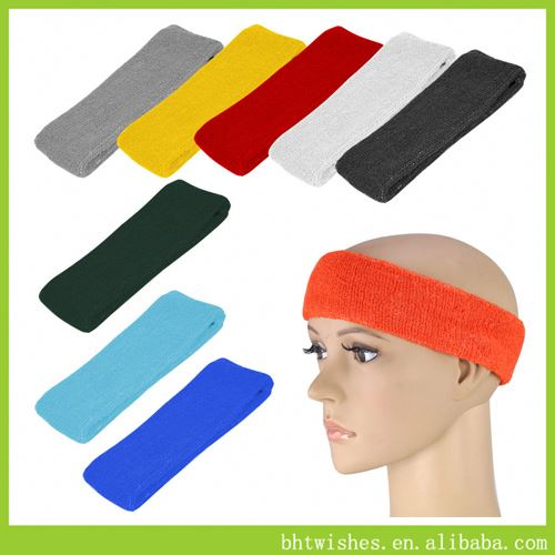 fashion turban headband ,BHT033 sequin bow cotton knot headband / 20 colors sequin bow elastic headband