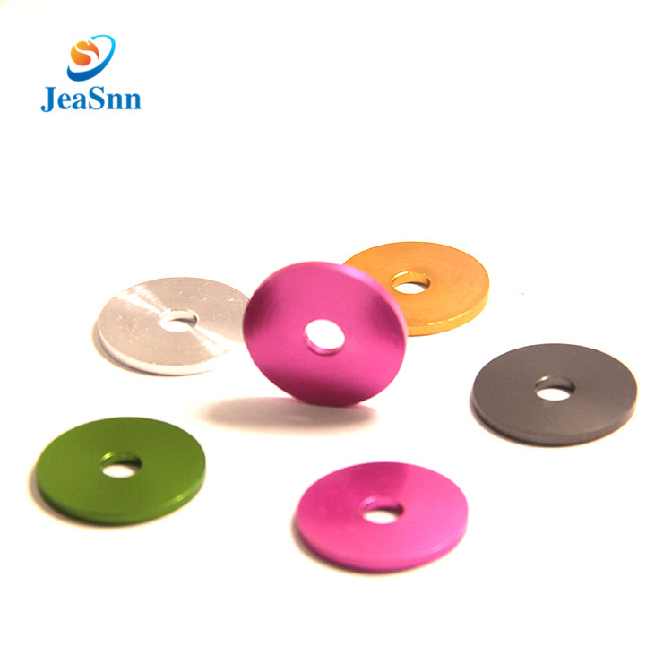 Customized high precision cnc turning machining color finishing anodized aluminum washers