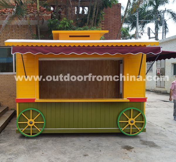 Durable outdoor mobile retail kiosk/street kiosk/outdoor food kiosk for sale