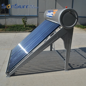 Vacuum Tube 500L Heat Pipe Closed Loop Solar Water Heater For Germany