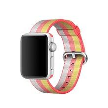 Новинка 2017 года красочные тканые нейлон ремешок для Apple Watch ткань-как чувствую ремешок с металлической адаптер для iwatch 38 мм/42 мм(Китай)