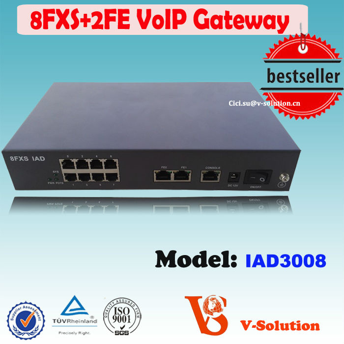 8*FXS VoIP + 2FE Telephone VoIP SIP Gateway