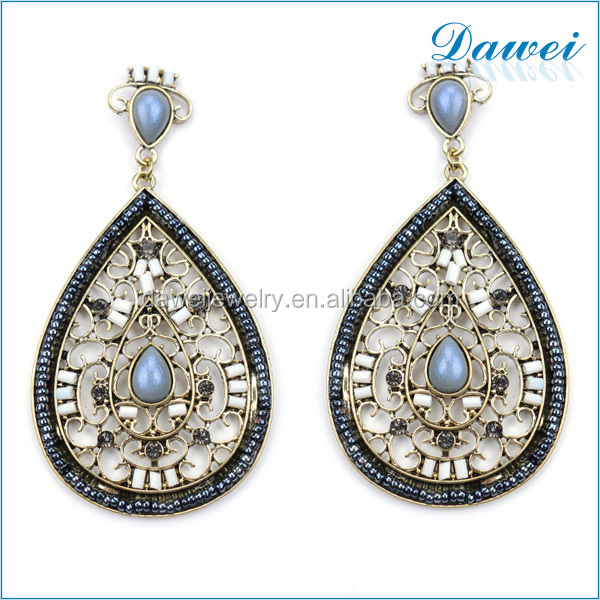 Big Water Drop Shaped Discount Price Women's Earrings With CCB Beads
