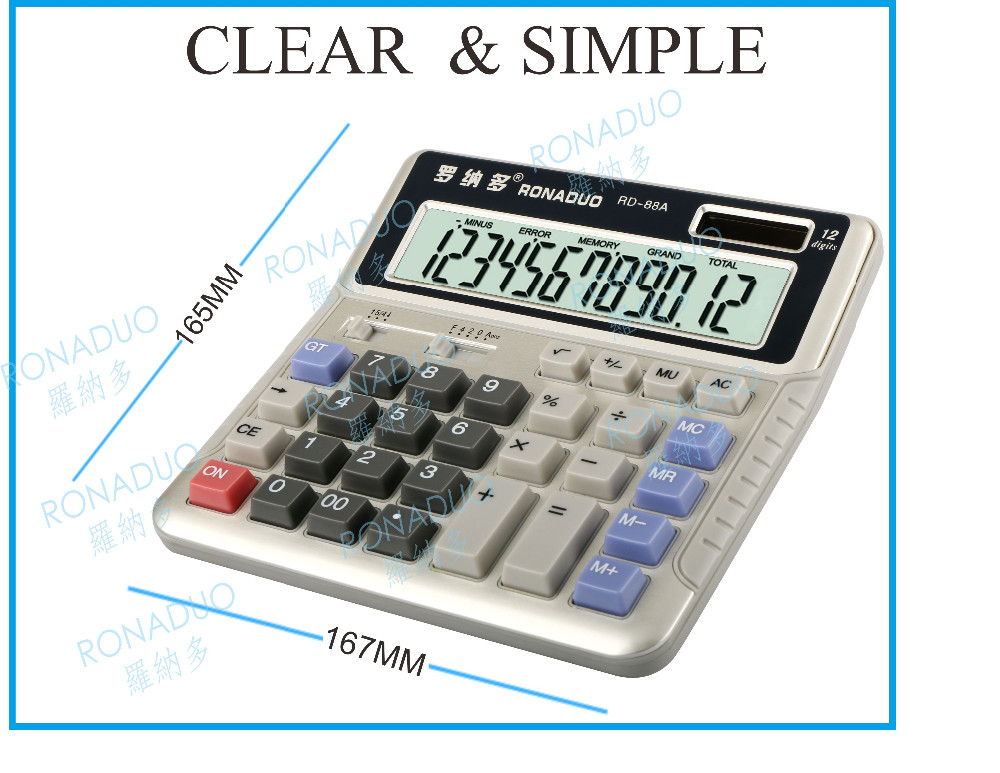 cheap solar powered calculator square root key promotional calculator with logo