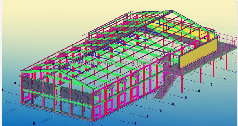 steel structure construction drawing