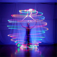 2014 Hot Belly Dance LED Poi Veils, Natural Silk Veils, Cheapest Belly Dance LED Poi