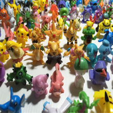 wholesale pikachu Pokemon go toy model Action Figure 144 units in 1 set 24 units multiply by 6 bags