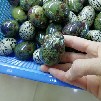 Wholesale Natural Red And Green Epidote Quartz Crystal Yoni Egg For Kegel Exercise