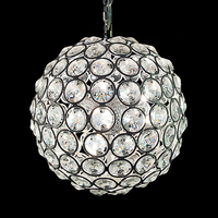 Good quality stainless steel modern crystal chandelier pendant light